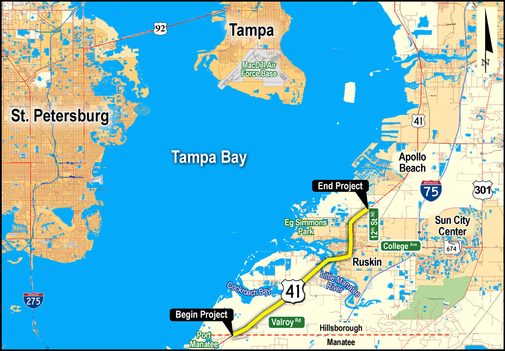 US Project Development And Environment PDE Study - Us 41 map